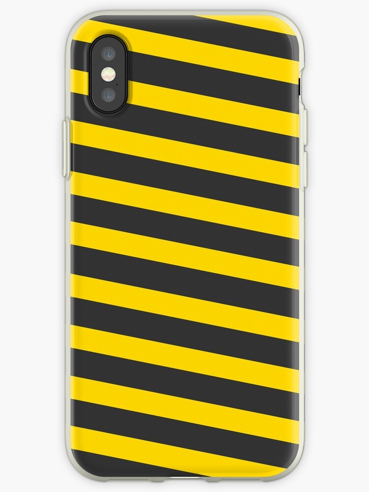 purchase cheap ed543 68004 'Cute Candy Cane Design – Black and Yellow' iPhone Case by pardock