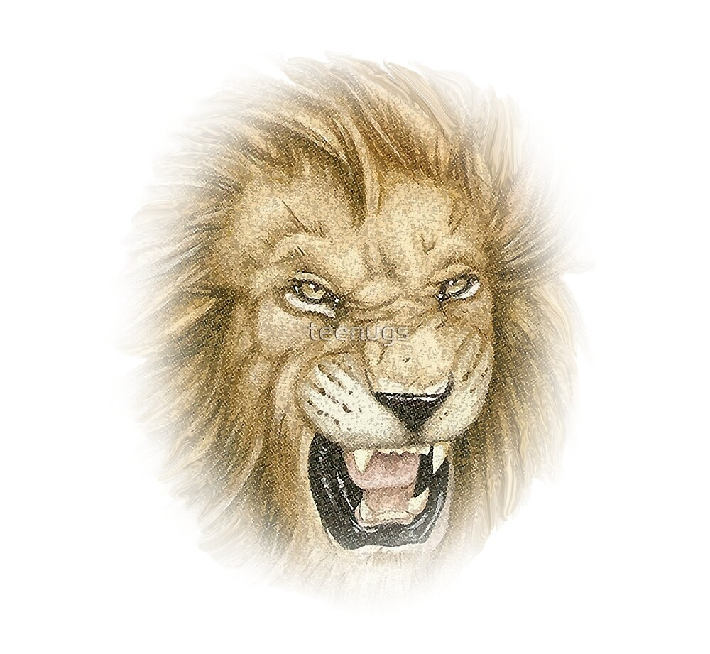 King of the Jungle Lion Face Art\