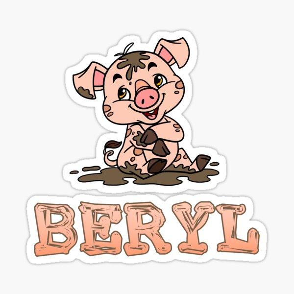 Beryl Piggy Sticker