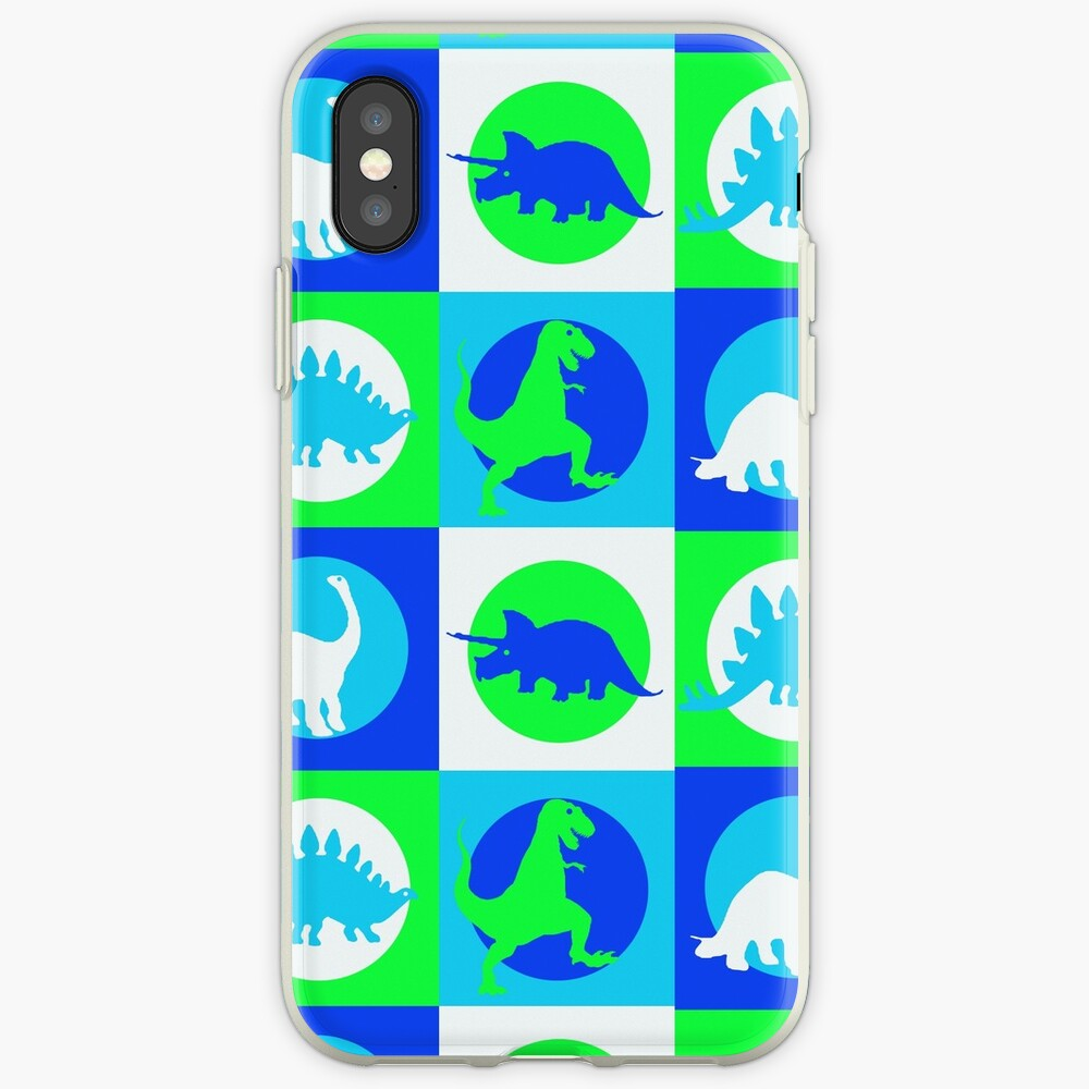 Dino Madness - Grün iPhone-Hüllen & Cover