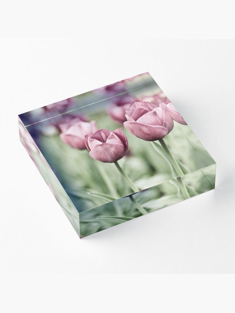 Alternate view of Tulip Garden Acrylic Block