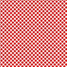 Red Polka Dot Circle Pattern by ValeriesGallery