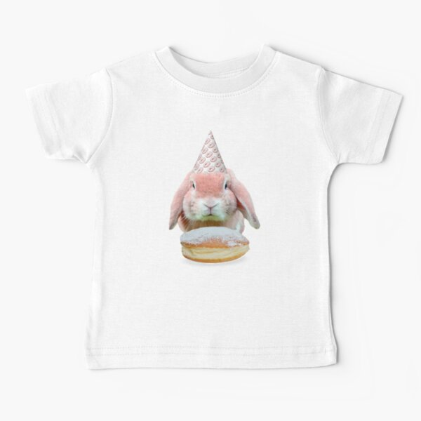 Rabbit Donut Party by Alice Monber Baby T-Shirt