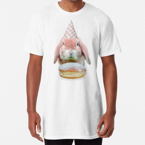 Rabbit Donut Party by Alice Monber Long T-Shirt