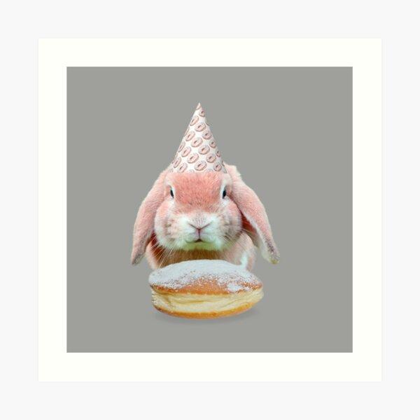 Rabbit Donut Party by Alice Monber Art Print