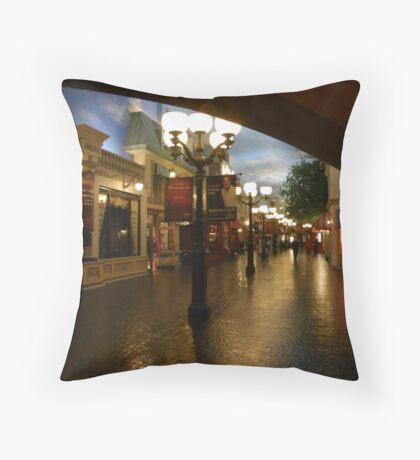 Rue de la Paix ~ A Paris Street Scene Throw Pillow