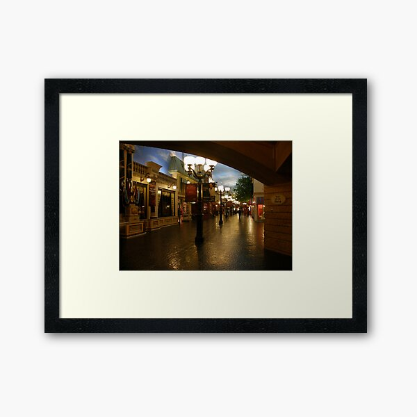 Rue de la Paix ~ A Paris Street Scene Framed Art Print