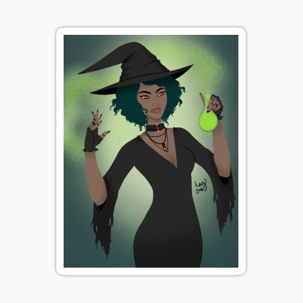 Neon Witch Sticker