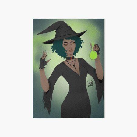 Neon Witch Art Board Print
