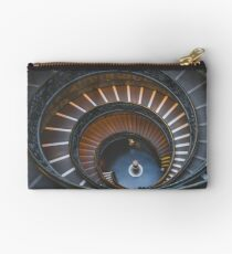 Stair, swirl, museum stair, museum, engraving,  Studio Pouch