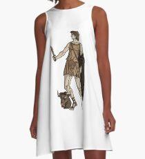 Vestido acampanado Greek God