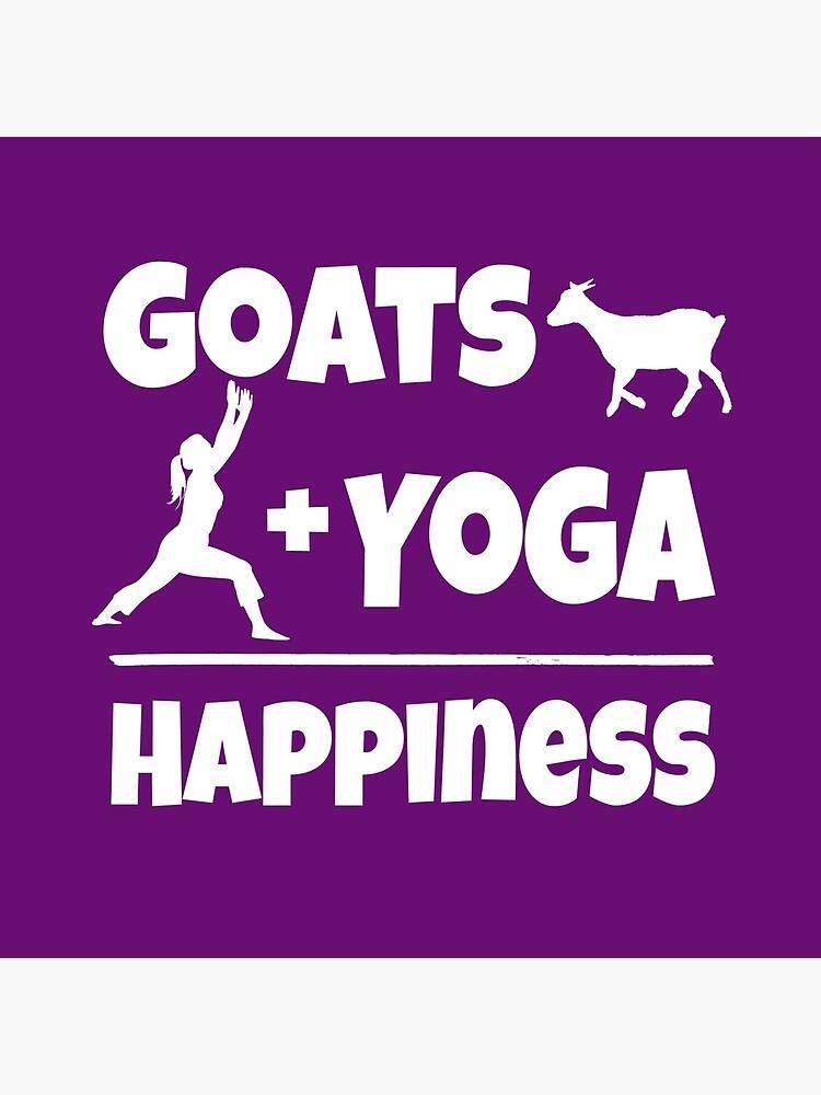 Ziegen und Yoga entspricht Glück von krisdigital