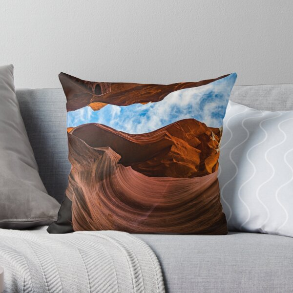Canyon Curve II Throw Pillow