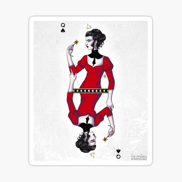 Queen of Spades Sticker
