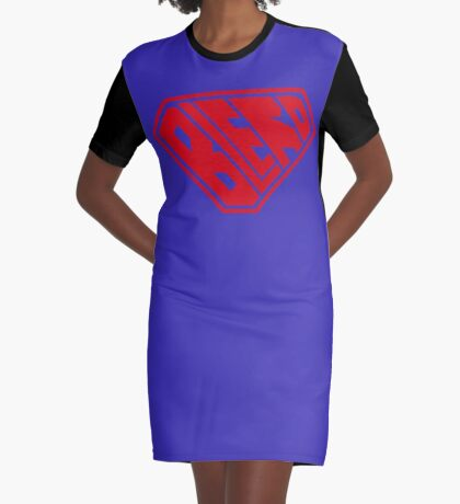 Blerd SuperEmpowered (Red) Graphic T-Shirt Dress