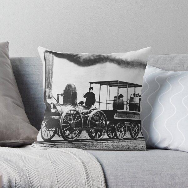 DeWitt Clinton Locomotive, 1830s Throw Pillow