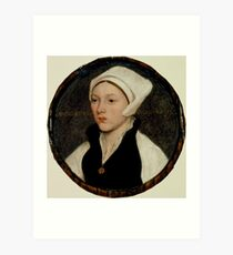 Hans Holbein the Younger - Portrait of a Young Woman with a White Coif Art Print