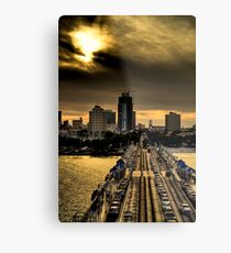 Sunset from the Pier Metal Print