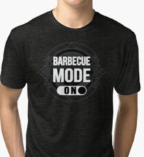 Barbecue Mode On - BBQ - Meat and Grill Lovers Funny Vintage Design Tri-blend T-Shirt