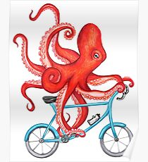 Cycling Octopus Poster