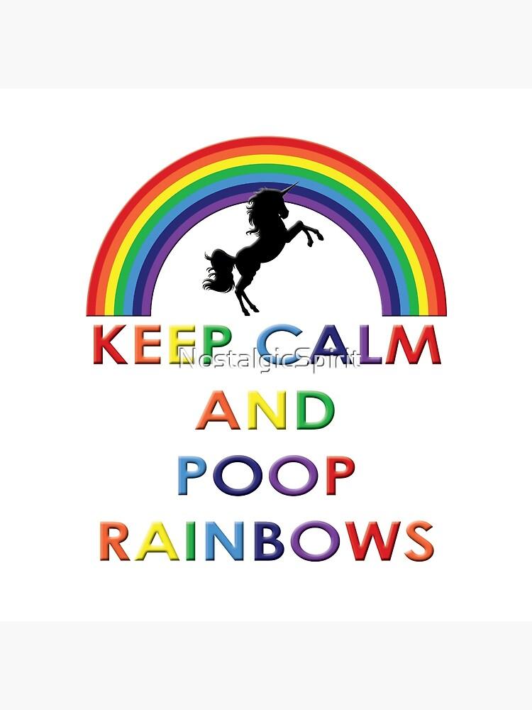 Mens Keep Calm And Poop Rainbows Long Sleeve Hooded Sweater Black