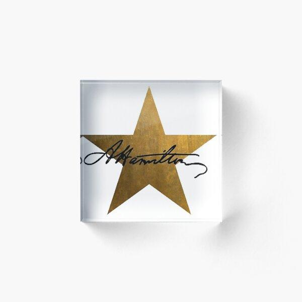 Hamilton Star Acrylic Block
