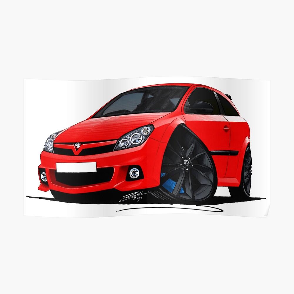 VXR Caricature Car Art Print Vauxhall Astra Mk6