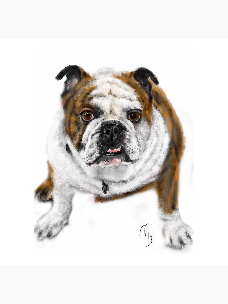 Stubborn Affectionate Bulldog Pup  by LITDigitalArt