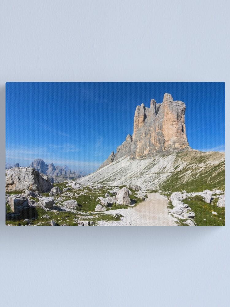 Alternate view of tre cime di lavaredo Canvas Print