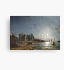 HENRY PETHER (1828-1865) Newark Castle, Port Glasgow c. 1858, England Canvas Print