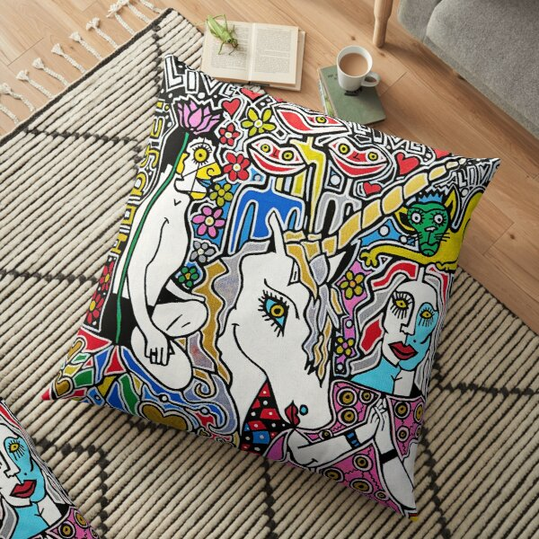 Unicorn Love Collection Merchandise by Dusty O Floor Pillow