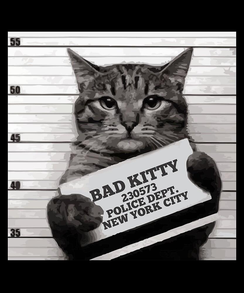 Quot Mugshot Cat Mr Furrypants Bad Kitty Quot By Printedkicks