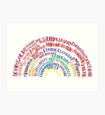 Richard Dawkins quote-rainbow by Tai's Tees Art Print