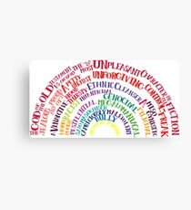 Richard Dawkins quote-rainbow by Tai's Tees Canvas Print