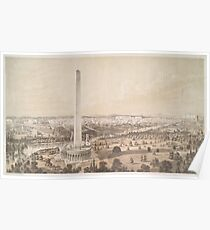 Vintage Pictorial Map of Washington DC (1852) Poster