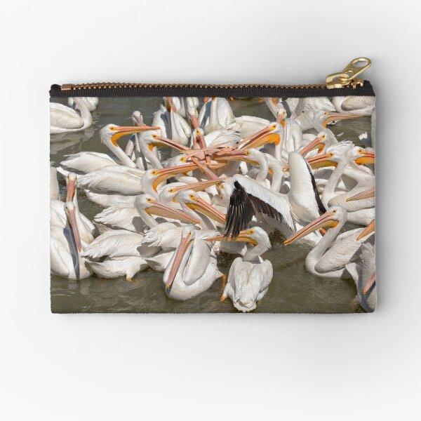 American White Pelicans Zipper Pouch