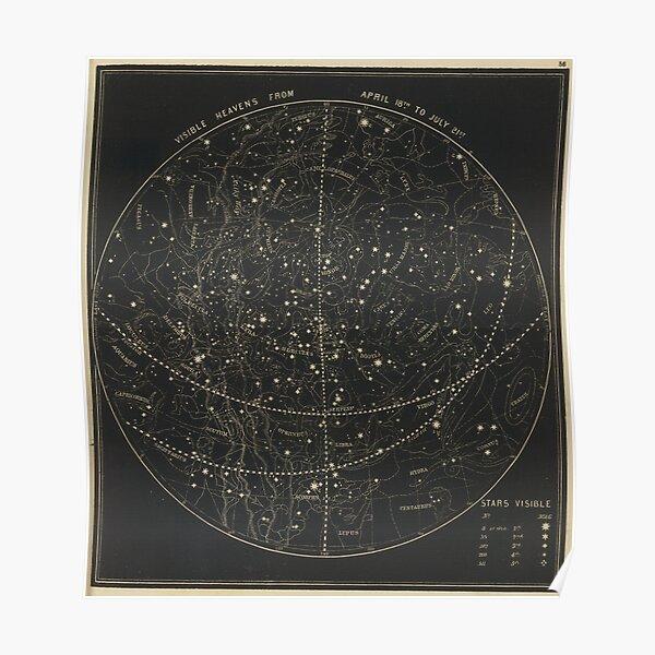 Vintage Astronomical & Celestial Map (1850) Poster
