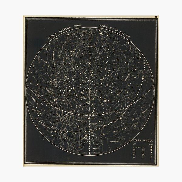Vintage Astronomical & Celestial Map (1850) Photographic Print