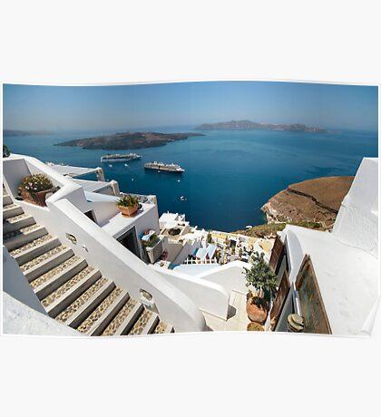 Views from Santorini Poster