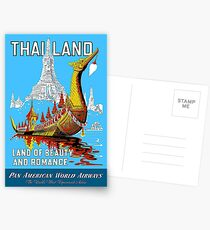 THAILAND : Vintage Airline Travel Advertising Print Postcards