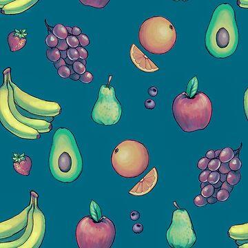 Tiled Fruit (Bright Palette) by tarale