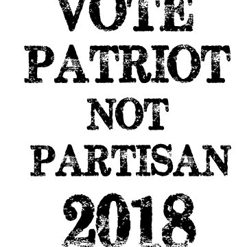 Vote Them Out Vote Patriot Not Partisan 2018 Political Midterms Vintage Style by Greenguy79