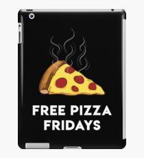 Free Pizza Fridays (White Text) iPad Case/Skin