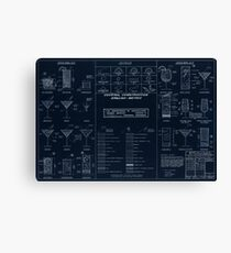 Cocktail Construction Chart - Blueprint Version by United States Forest Service Canvas Print