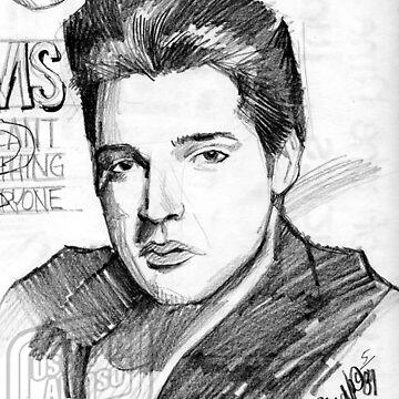 Elvis Rolling Stone by OscarEA