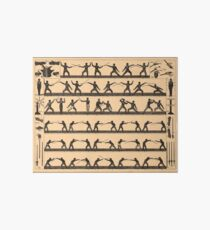 Vintage Fencing Swordsmanship Diagram (1907) Art Board