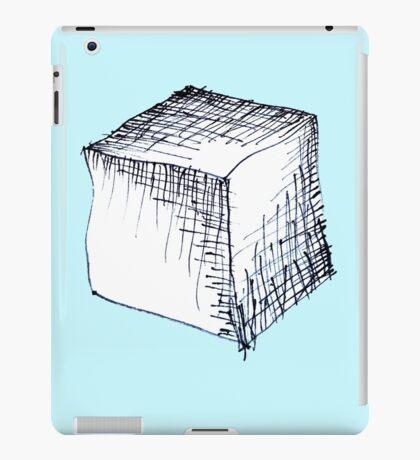 Freehand cube sketch  iPad Case/Skin