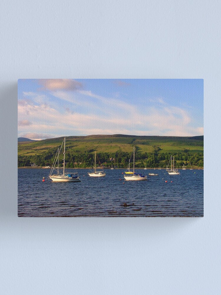 Alternate view of View  across the  Gareloch Canvas Print