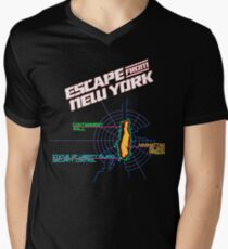 ESCAPE FROM NEW YORK - CITY MAP Men's V-Neck T-Shirt