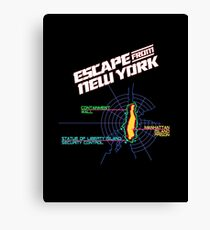 ESCAPE FROM NEW YORK - CITY MAP Canvas Print